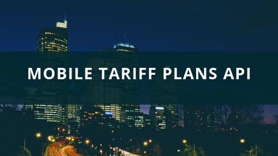 Mobile Tariff Plans API